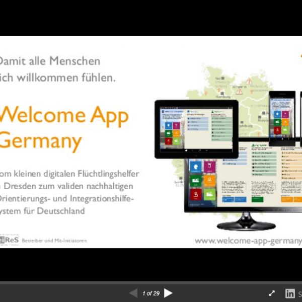 Welcome App Germany – Präsentation Rückblick